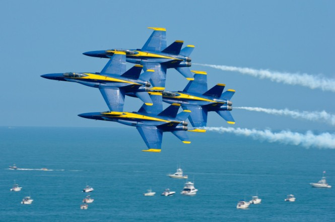 the Blue Angels perform at the Ocean City Air Show.